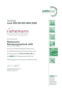 Zertifikat nach DIN EN ISO 9001:2008